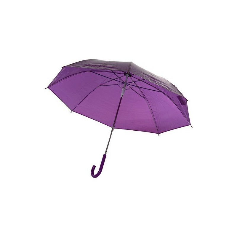 parapluie transparent violet automatique parapluie transparent rue du parapluie. Black Bedroom Furniture Sets. Home Design Ideas