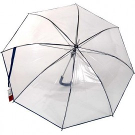 Parapluie Rainy Days transparent automatique  liseret bleu