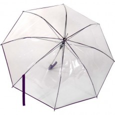 Parapluie Rainy Days transparent automatique  liseret violet