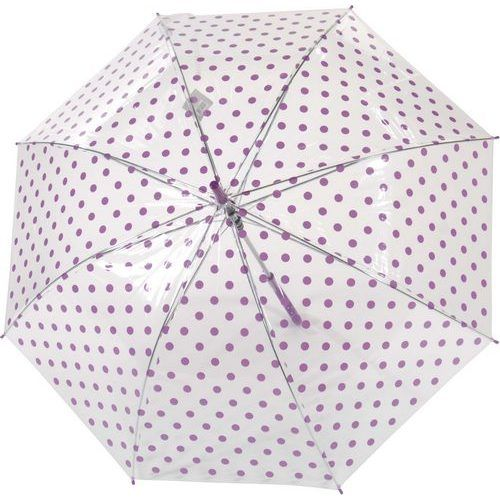 Parapluie transparent automatique pois violets