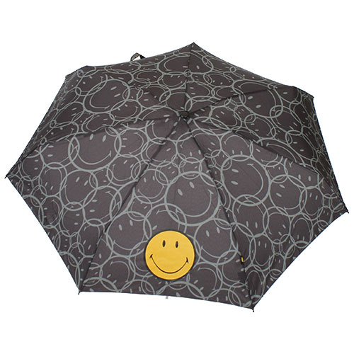 Parapluie pocket Smiley taupe