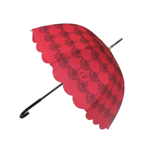 Parapluie cloche Chantal Thomass rouge et dentelle
