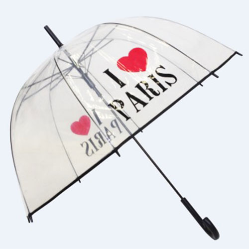 parapluie cloche transparent I love Paris
