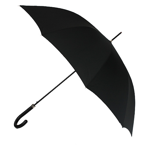 Parapluie long noir gentleman