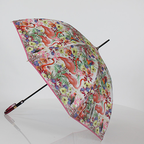 Parapluie canne flamants roses