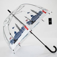 Parapluie transparent cloche motif Londres