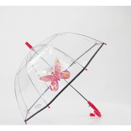 Parapluie transparent enfant girly