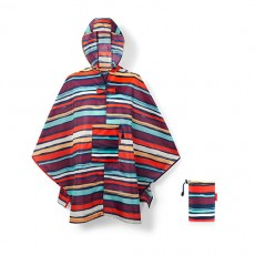 Poncho imperméable rayures multicolores Reisenthel
