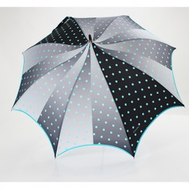 Parapluie pagode pois turquoise Aurillac