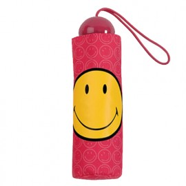 Petit parapluie Smiley rose