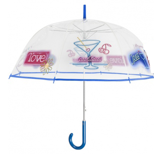 Parapluie transparent cloche cocktail