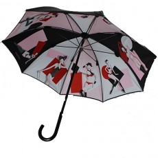 Parapluie canne Chantal Thomass pin up toile doublée