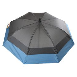 Grand parapluie tempête double extension bleue