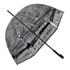 Parapluie transparent cloche signatures Jean Paul Gaultier