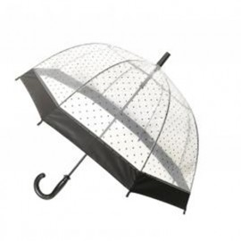 Parapluie enfant transparent cloche a pois