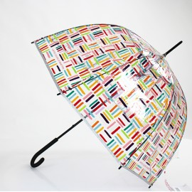 Parapluie transparent cloche design Benetton