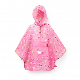 Poncho imperméable rose fillette