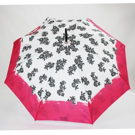Parapluie Chantal Thomass noir et rose fushia