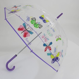 Parapluie cloche transparent Butterfly