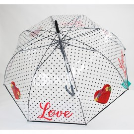 Parapluie transparent love