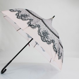 Parapluie rose  forme pagode Chantal Thomass dentelle