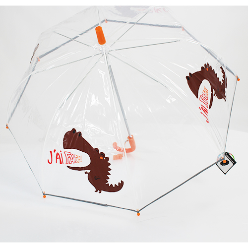 Parapluie transparent enfant dragon