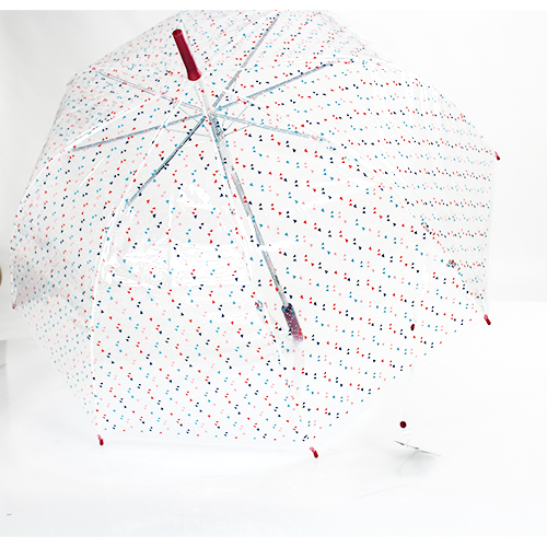 Parapluie transparent cloche pointillés