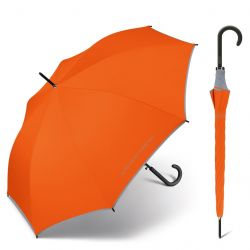 Parapluie long orange Benetton