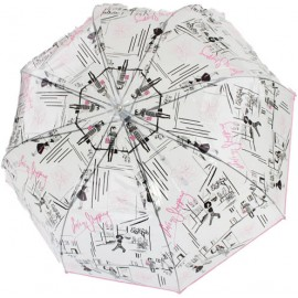 Parapluie cloche transparent shopping